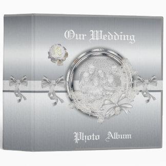 Binder Wedding Photo Album Silver