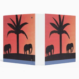 Binder with Elephant Design