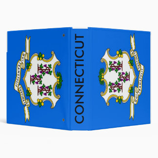 Binder with Flag of Connecticut, USA