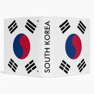 Binder with Flag of South Korea
