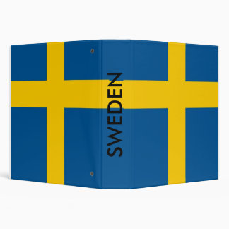 Binder with Flag of Sweden