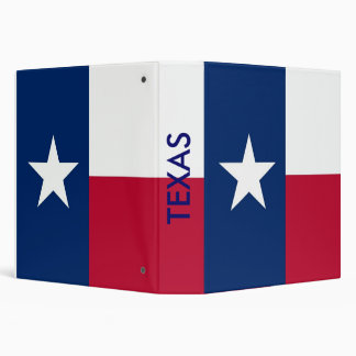 Binder with Flag of Texas, USA
