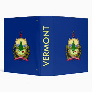Binder with Flag of Vermont, USA