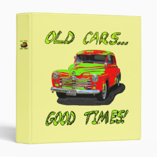 """Binder with """"Old Cars...Good Times!"""" design"""