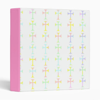 Binder with Pastel Crosses