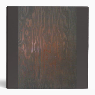 Binder with Stained Wood Design