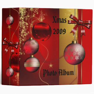 Binder Xmas Photo Album Christmas Red Balls