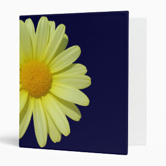 Binder - Yellow Daisy on Midnight Blue