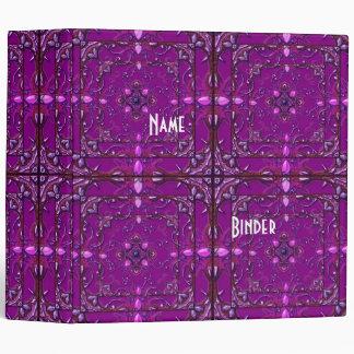 Binder Zizzago Black Purple Plum Antique