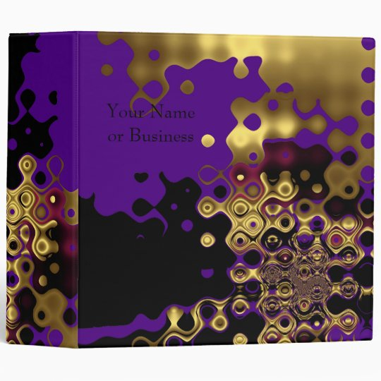 Binders Abstract Melted Gold on Purple & Black