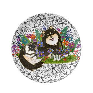 BINDI  Finnish Lapphund porcelain art plate 2 size Porcelain Plates