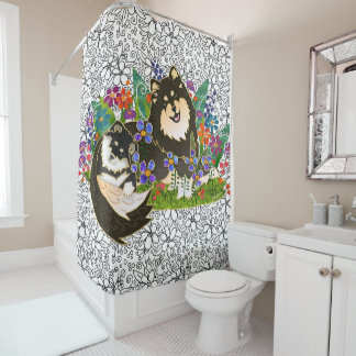 BINDI  Finnish Lapphund shower curtain