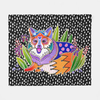 BINDI FOX Fleece blanket in 3 sizes