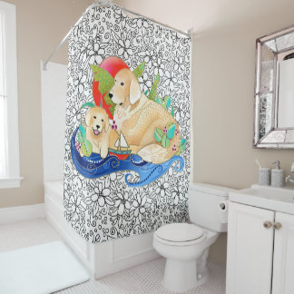 BINDI GOLDEN RETRIEVER- Shower curtain