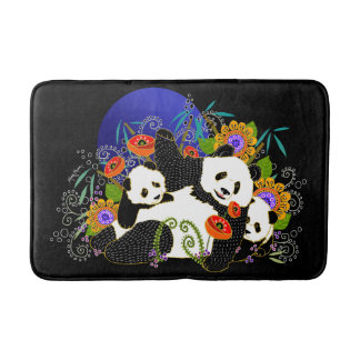 BINDI PANDAS-Customize background color Bathroom Mat