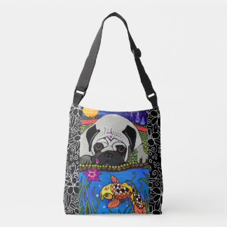 BINDI PUG - Cross body or tote bag -2 sizes/styles