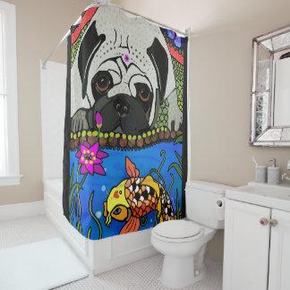 BINDI PUG- Shower curtain
