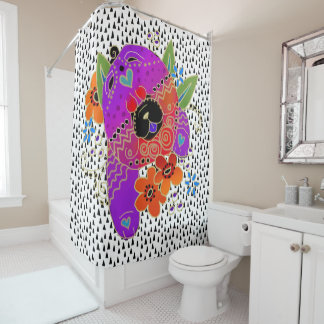 BINDI ROUGH CHOW   shower curtain
