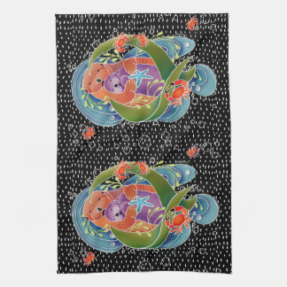 BINDI Sea Otters kitchen towels