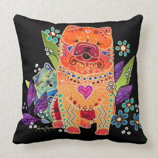 BINDI smooth chow family Throw Pillow