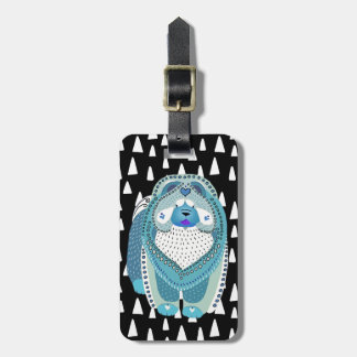 BINDI SOPHIE chow blue luggage tag