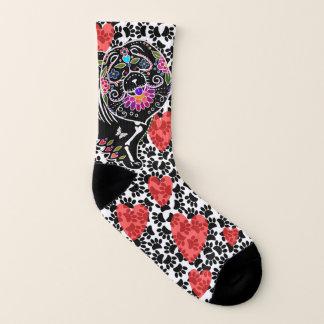 BINDI SUGARSKULL Chow and hearts - Socks 1