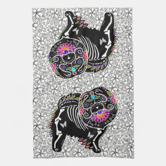BINDI SUGARSKULL Chow - kitchen or dog show towel