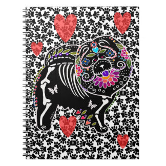 BINDI SUGARSKULL Chow - Notepad Notebook
