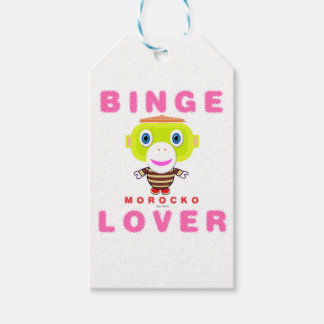 Binge Lover-Cute Monkey-Morocko Gift Tags