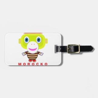 Binge Lover-Cute Monkey-Morocko Luggage Tag