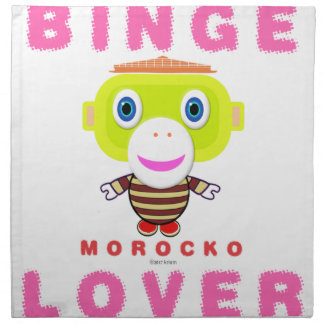 Binge Lover-Cute Monkey-Morocko Napkin