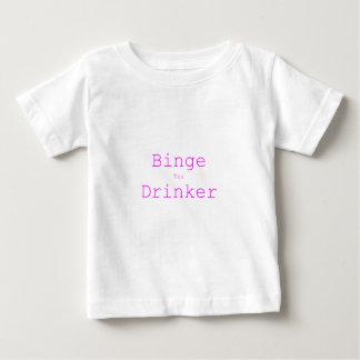 Binge Tea Drinker Yellow Green Pink Baby T-Shirt