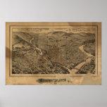 Binghamton New York 1882 Antique Panoramic Map Poster