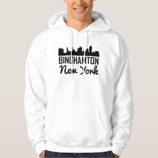 Binghamton New York Skyline Hoodie