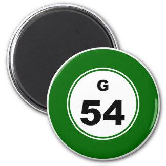 Bingo Ball G 2 Inch Round Magnet