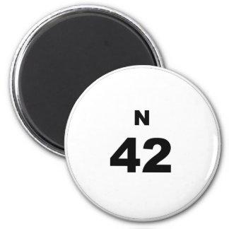Bingo Ball N 2 Inch Round Magnet
