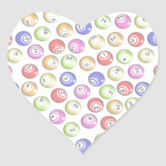 Bingo Balls Heart Sticker