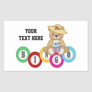 Bingo Bear (personalized) Sticker