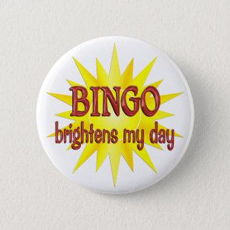 BINGO Brightens My Day 2 Inch Round Button