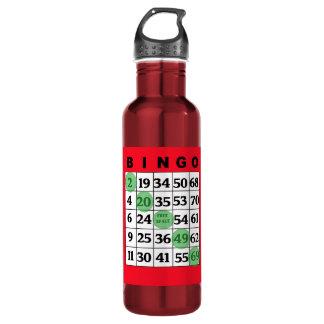 BINGO Card & Dabber Good Luck Water Bottle