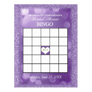 Bingo Card   Lavender Lights Postcard