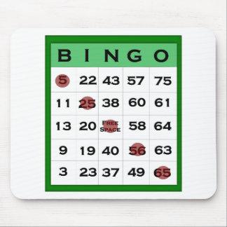 bingo card mouse pad