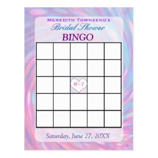 Bingo Card | Pink Swirl Postcard
