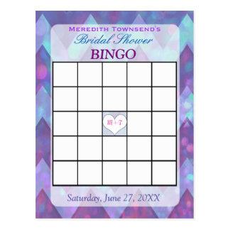 Bingo Card | Purple Chevron Postcard