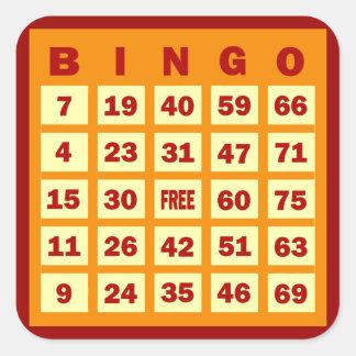 Bingo Card Square Sticker