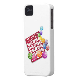 BINGO Card with BINGO Balls iPhone 4 Cases