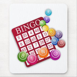 BINGO Card with BINGO Balls Mouse Pad