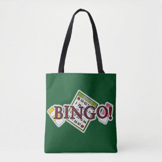 Bingo card word art tote bag