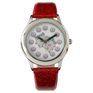 Bingo Cards and Numbered Bingo Ball Face Watch