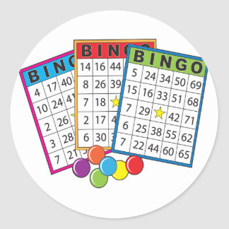Bingo Cards Classic Round Sticker